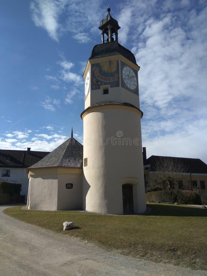 Belltower no castelo Burghausen, Baviera fotografia de stock royalty free