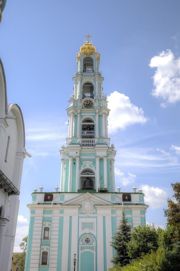 Belltower Trindade Lavra de St Sergius fotografia de stock royalty free