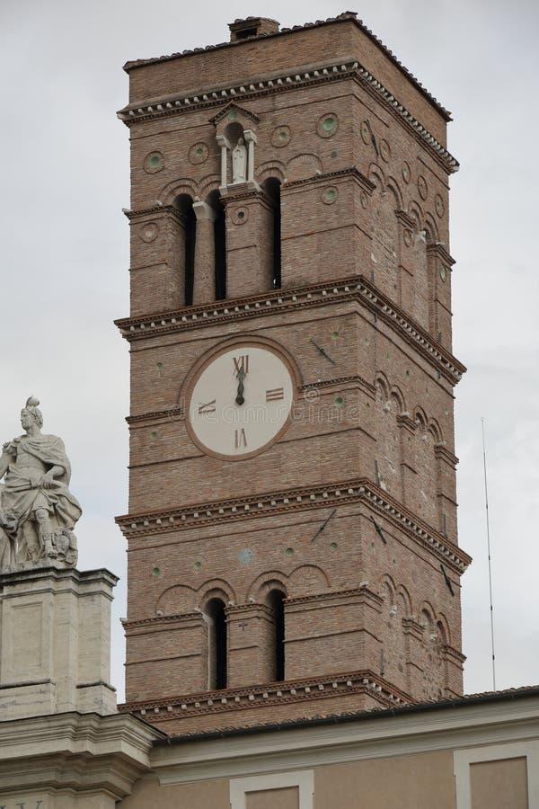 Belltower van de Basiliek van het Heilige Kruis in Jeruzalem stock foto