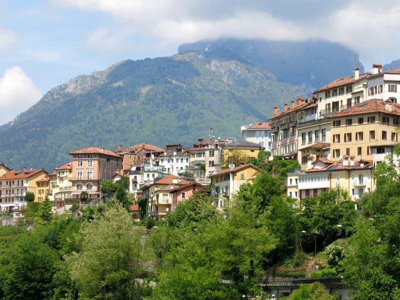 Belluno-Dorf-Stadt Italien stockfotos
