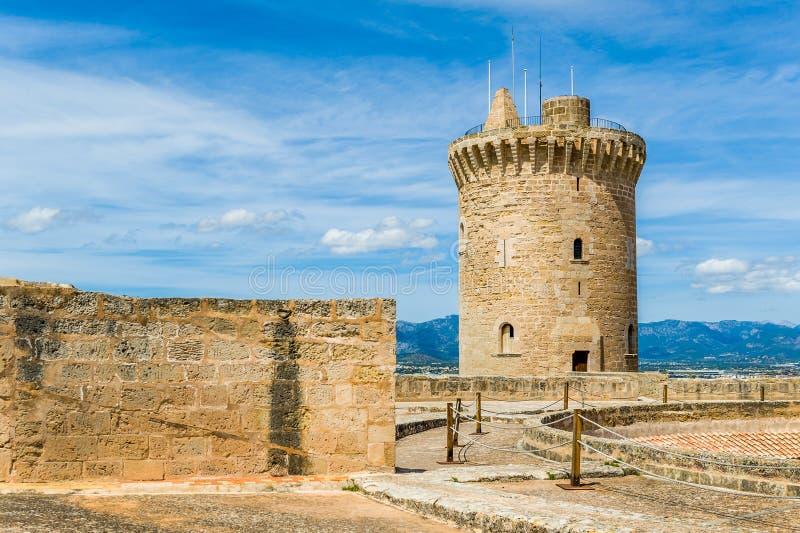 Bellver Castle. Fortress in Palma-de-Mallorca, Spain royalty free stock photo