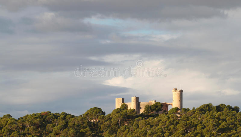 Bellver castle view stock photo