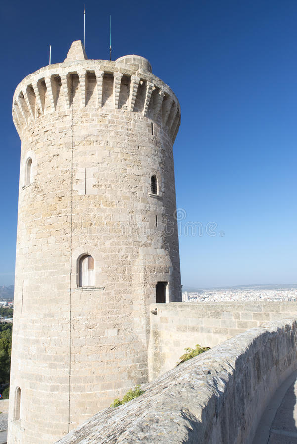Bellver-Schloss, Palma de Mallorca lizenzfreie stockfotografie