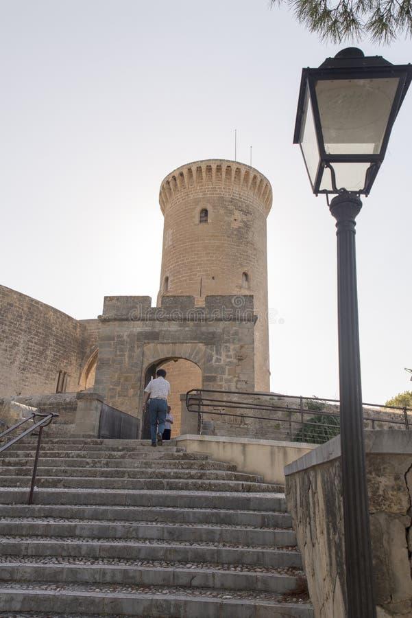 Bellver-Schloss, Palma de Mallorca stockbilder
