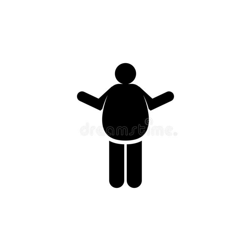Belly, bloat, coeliac, stomach icon. Element of celiac disease sings. Premium quality graphic design icon. Signs and symbols. Collection icon for websites, web stock illustration
