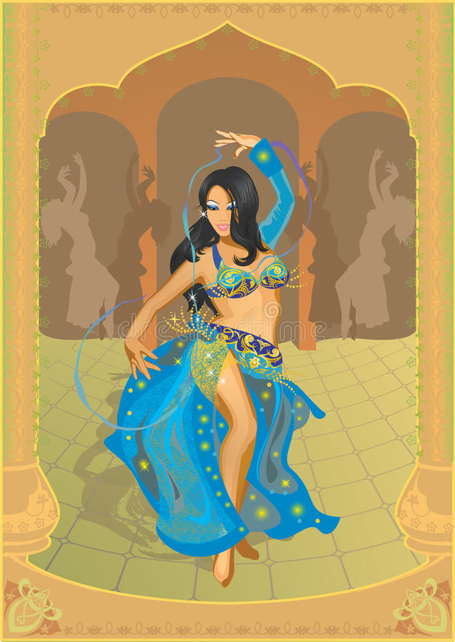 Belly dance stock illustration