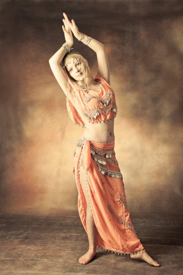 Download Belly dance stock image. Image of dancing, orange, beautiful - 23301419