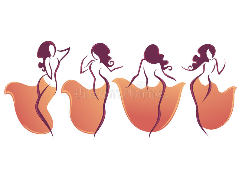 Belly dance royalty free illustration