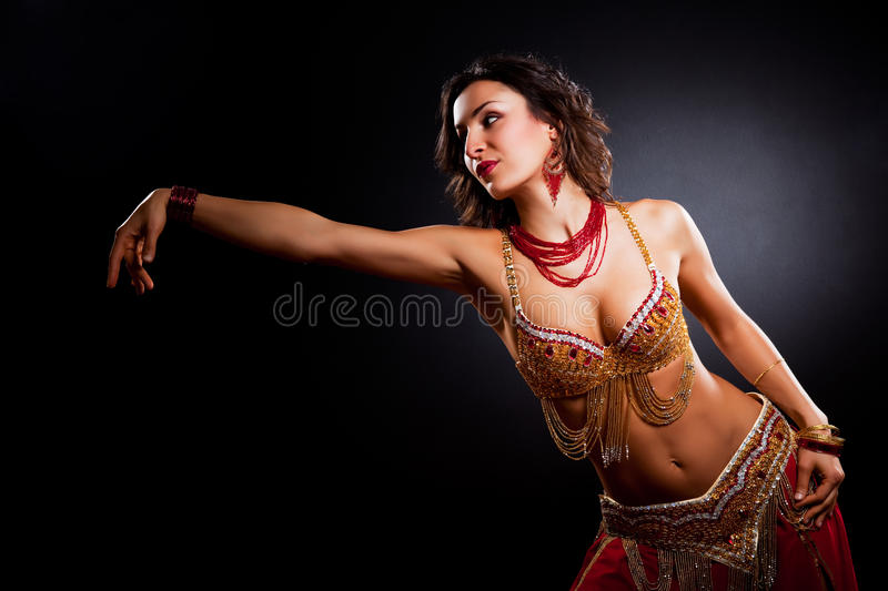Download Belly dancer stock image. Image of portrait, black, lady - 16671287