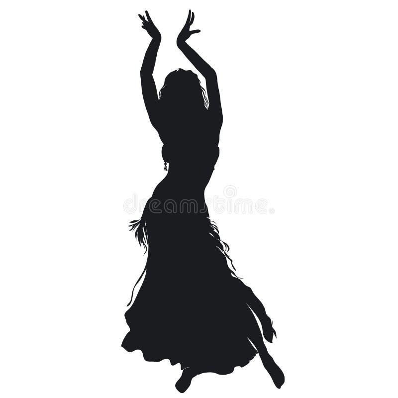 Belly dancer stock illustration