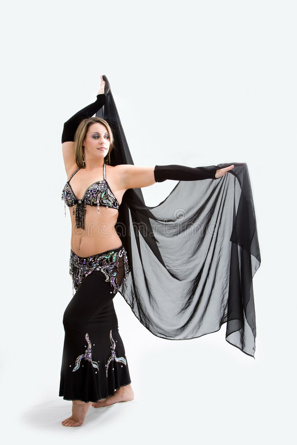 Download Belly dancer in black stock image. Image of beautiful - 7269785