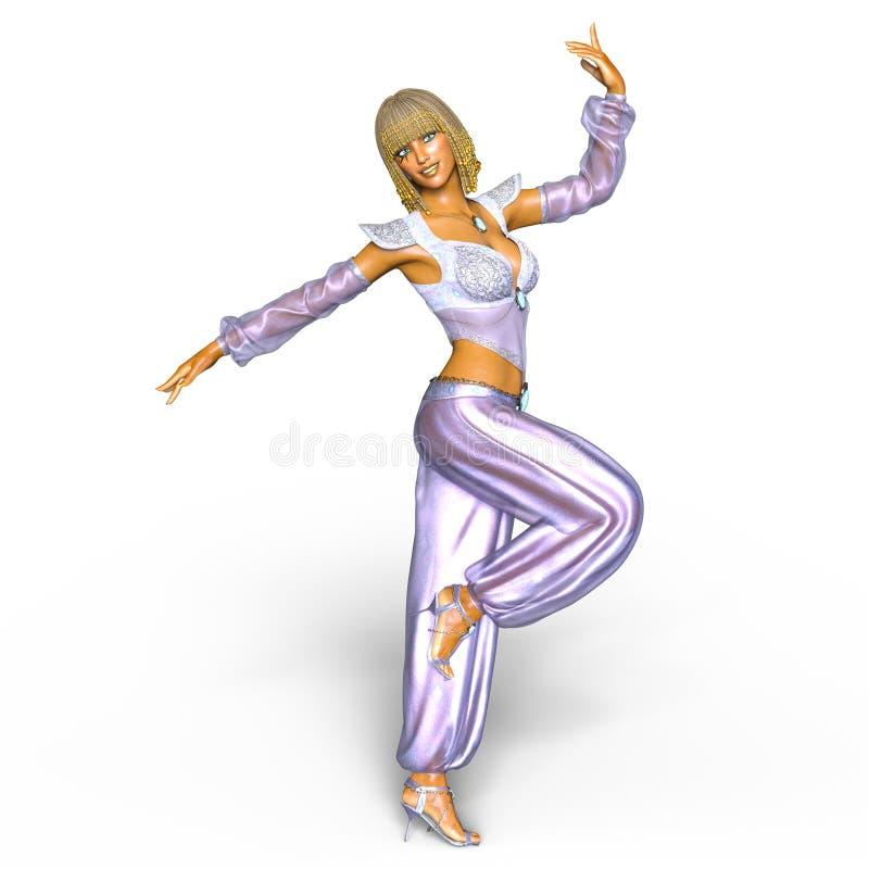 Belly dancer. 3D CG rendering of a belly dancer royalty free illustration