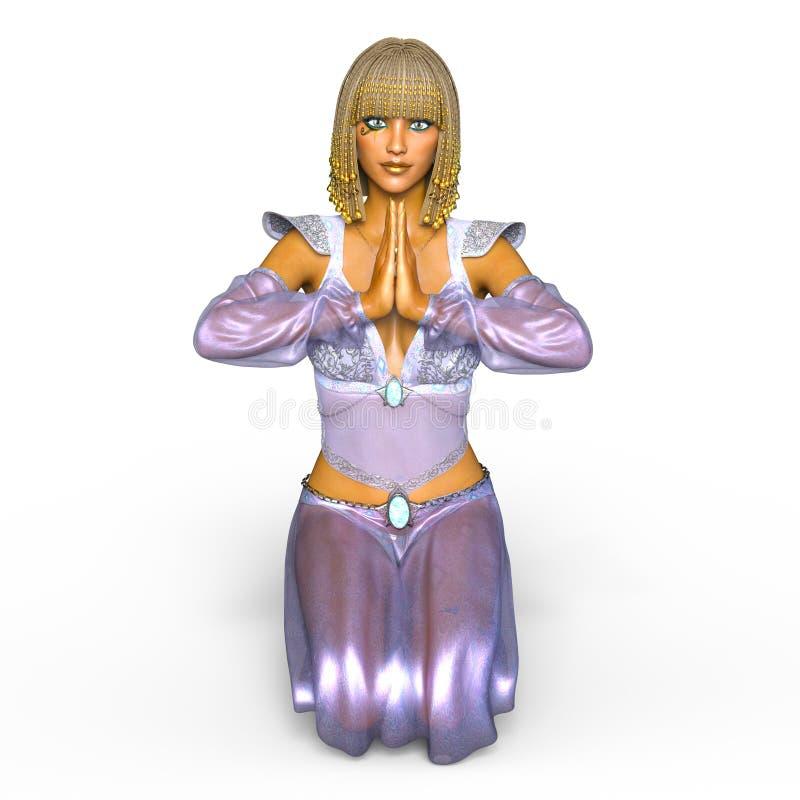 Belly dancer. 3D CG rendering of a belly dancer stock illustration