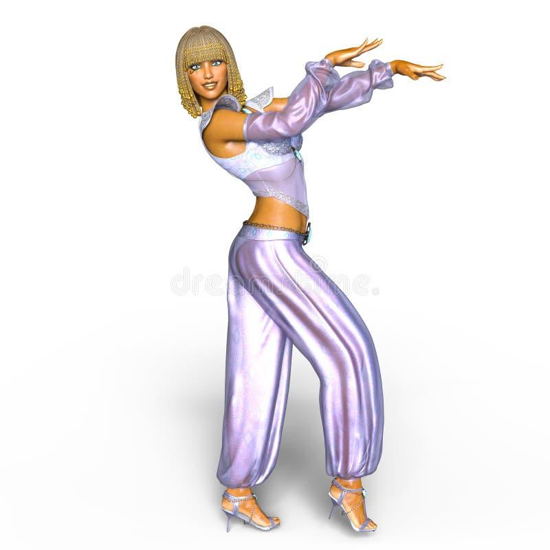 Belly dancer. 3D CG rendering of a belly dancer vector illustration