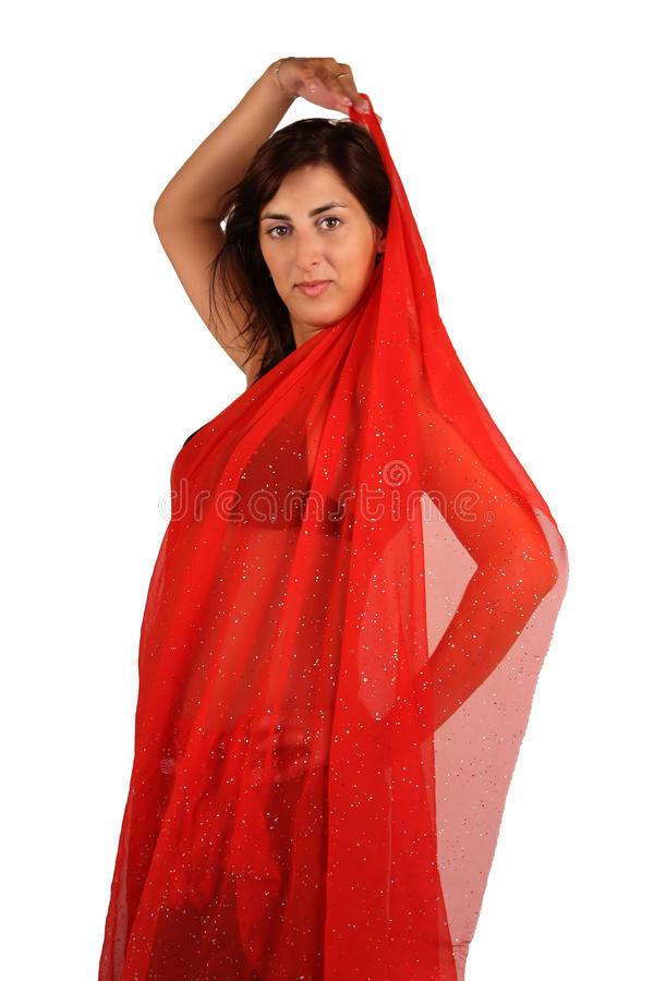 Download Belly-dancer Dressed In Red Kerchief Stock Images - Image: 11694124