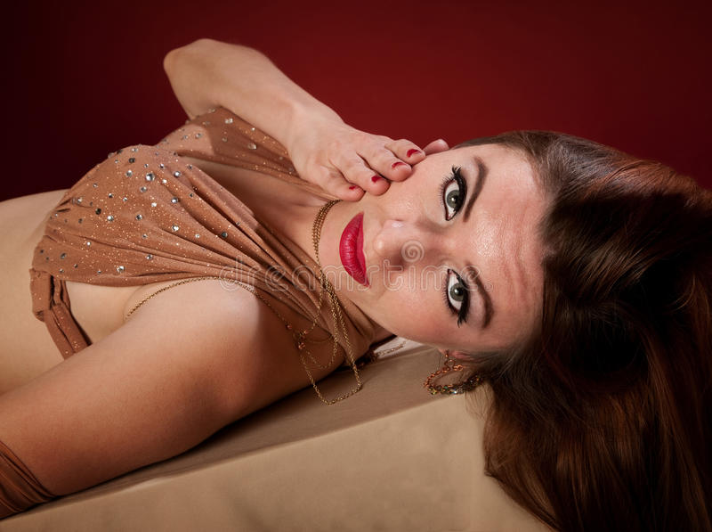 Belly Dancer Lying Down royalty free stock image