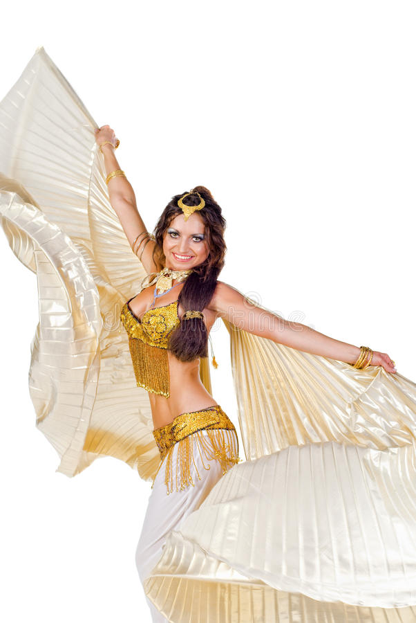 Belly dancer with the silver wings