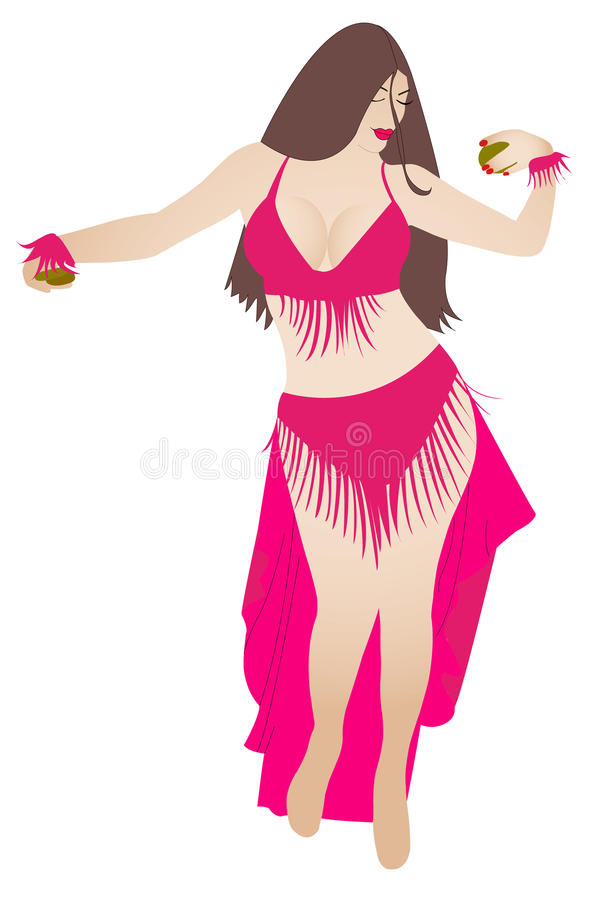 Belly dancer vector royalty free illustration