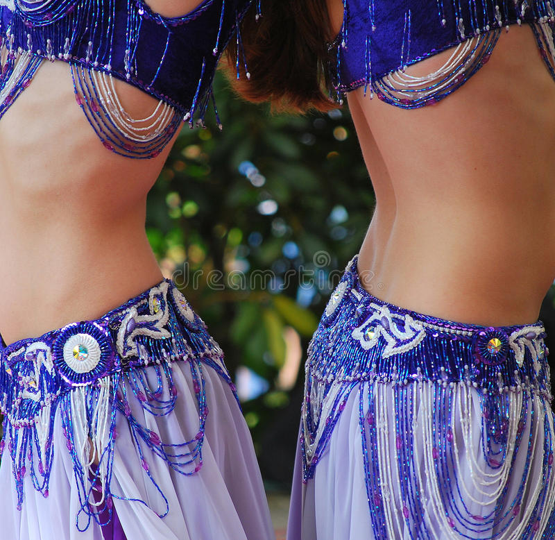 Belly dancers. stock images