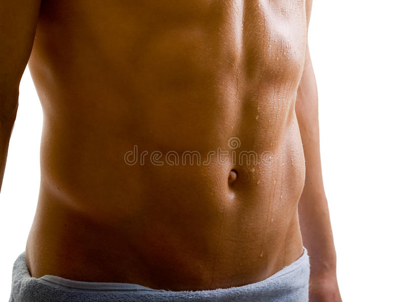 Belly Naked Male Body Stock Image