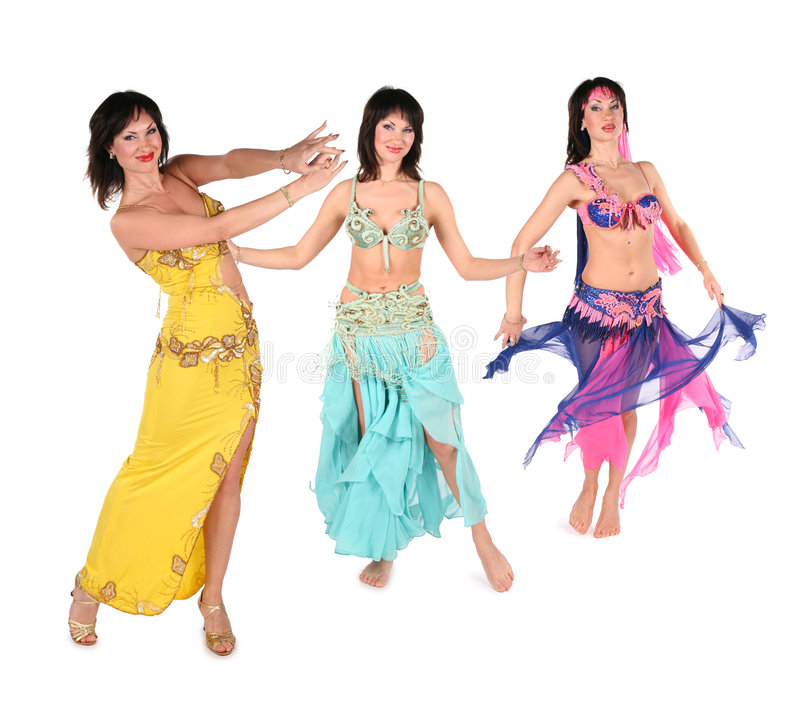 Bellydance Woman Group Stock Photography
