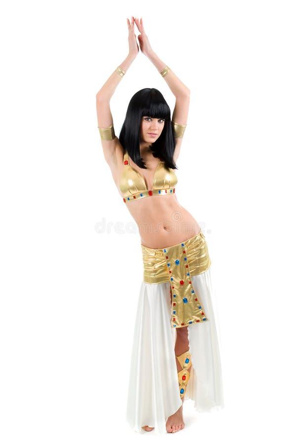 bellydancekvinna royaltyfria bilder