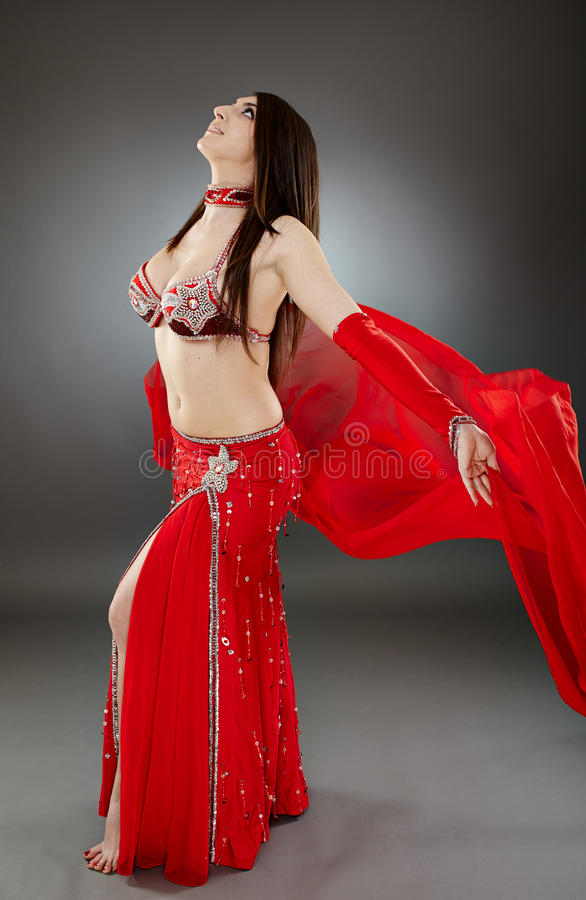 Download Bellydancer in action stock photo. Image of hair, bellydancer - 40657014