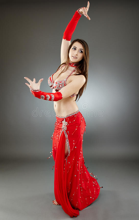 Bellydancer In Action Stock Photo