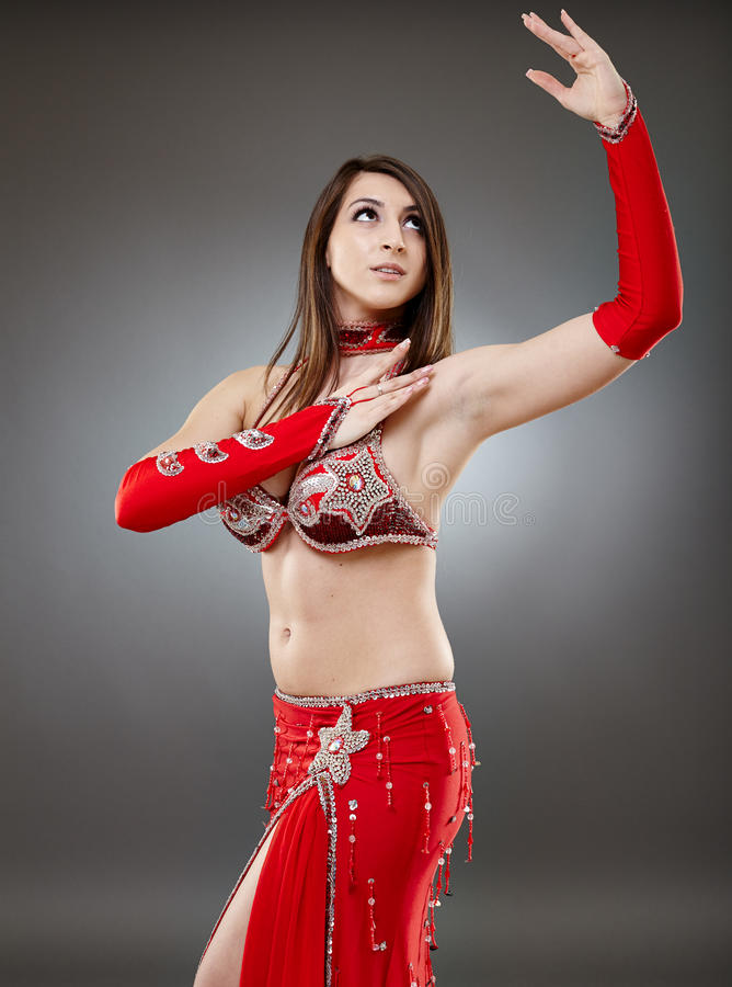 Download Bellydancer in action stock image. Image of beautiful - 40657103