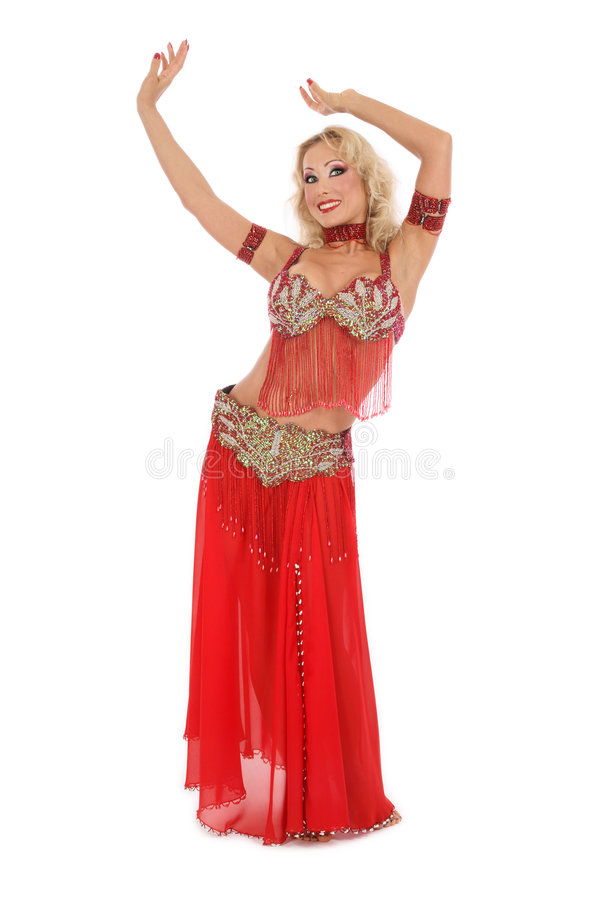 Bellydancer blond photographie stock libre de droits