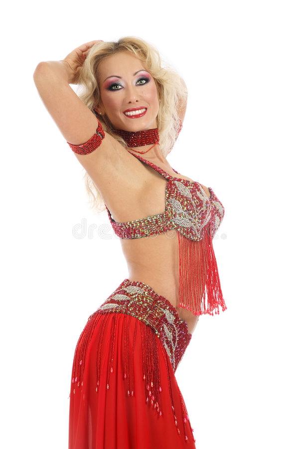 bellydancer blondyny obraz royalty free