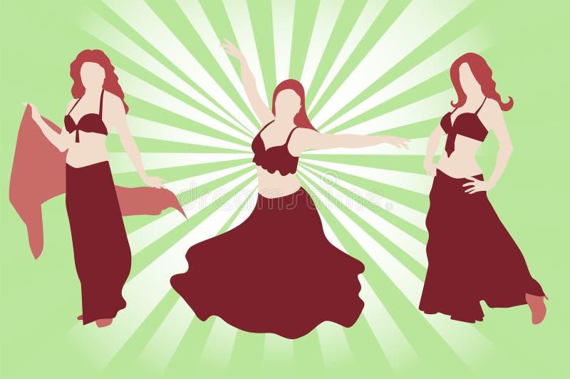 bellydancers бесплатная иллюстрация