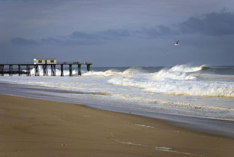 Download Belmar Fishing Pier stock image. Image of dock, shoreline - 24339279