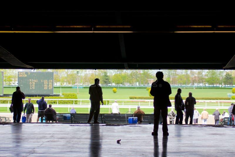 Belmont Park racespår 2011 fotografering för bildbyråer