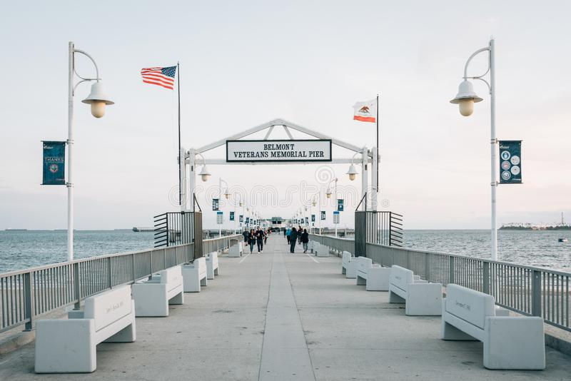 Belmont Pier, in Long Beach, California.  royalty free stock photography