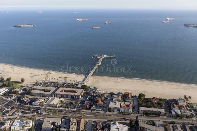 Belmont Pier Long Beach California Aerial royalty free stock photo