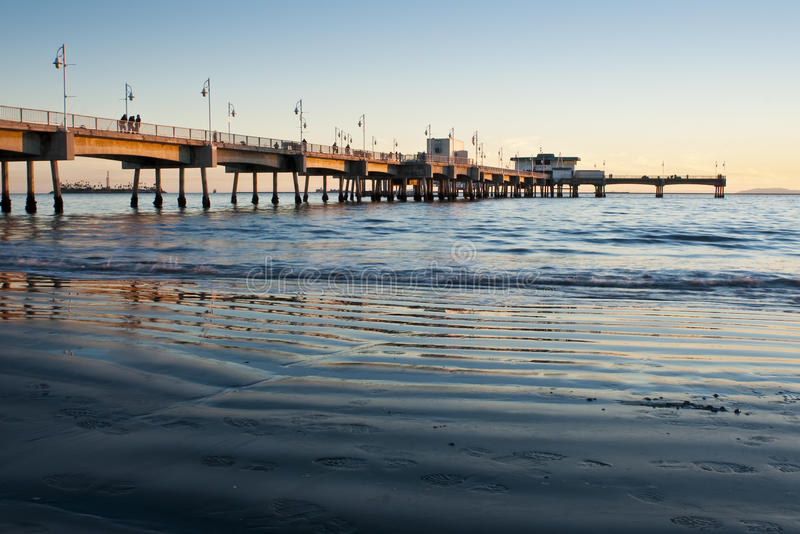 Download Belmont Shores Pier Long Beach Sunset Wideangle Stock Photo - Image: 18320078
