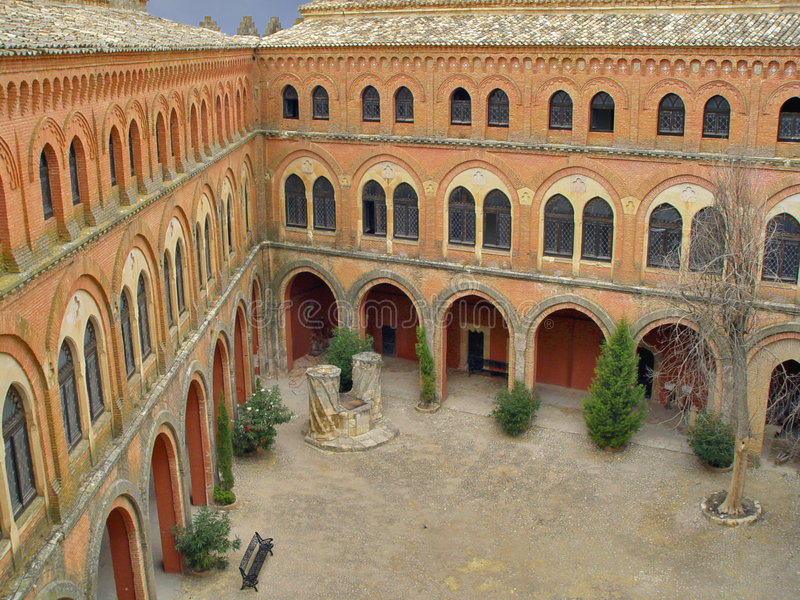 belmonte城堡cuenca西班牙 图库摄影