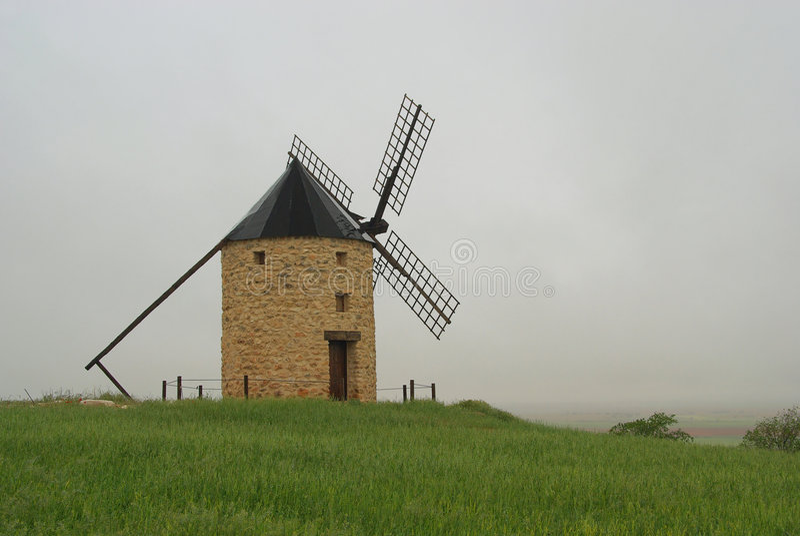 Belmonte风车 库存图片