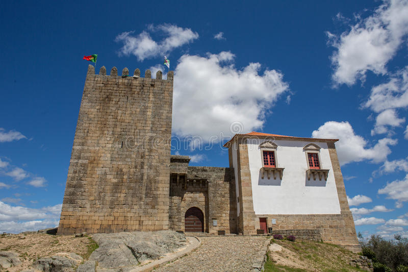 Belmonte castle. Historic village of Portugal, near Covilha stock image