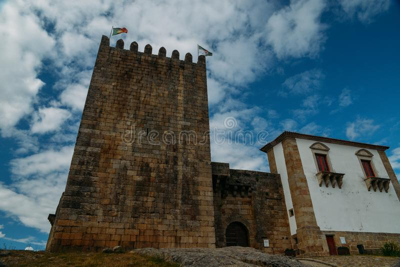 Belmonte Castle, Belmonte, Portugal, birthplace of 16th-century Portuguese explorer of New World, Pedro Alvares Cabral stock photography