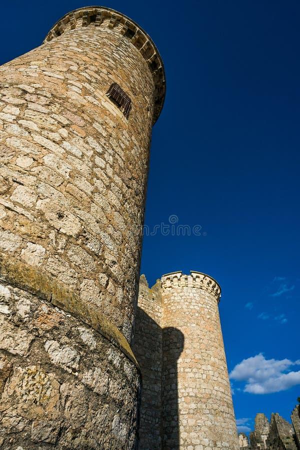 Belmonte Kasteel, La Mancha, Spanje royalty-vrije stock foto