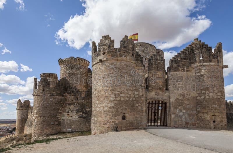 Belmonte Kasteel, Spanje stock afbeelding