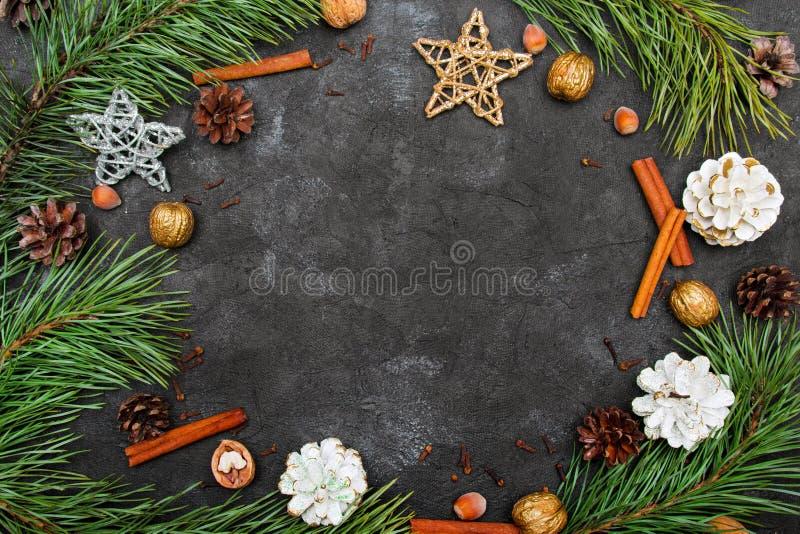 Belo fundo de Natal com espaço para cópia para seu texto fotos de stock