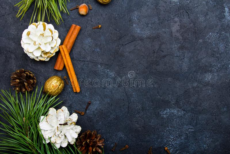Belo fundo de Natal com espaço para cópia para seu texto imagem de stock