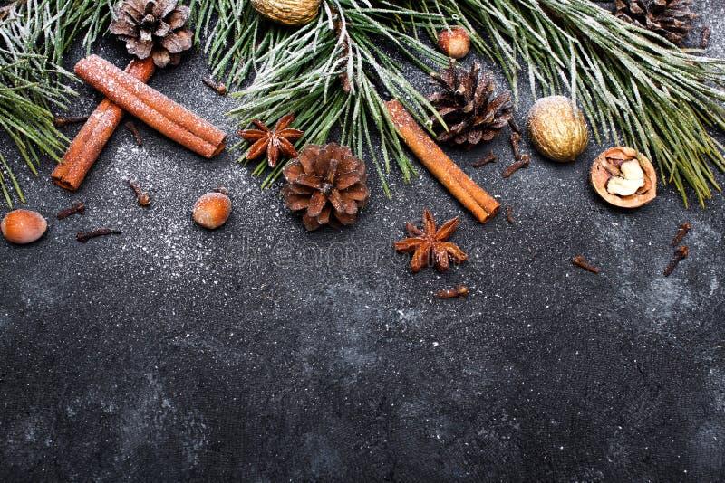 Belo fundo de Natal com espaço para cópia para seu texto fotografia de stock