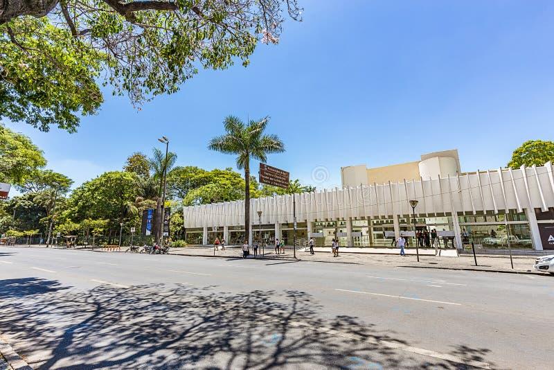 BELO HORIZONTE, BRÉSIL - 13, OCTOBRE 2017 : Palais des arts, Mina image stock
