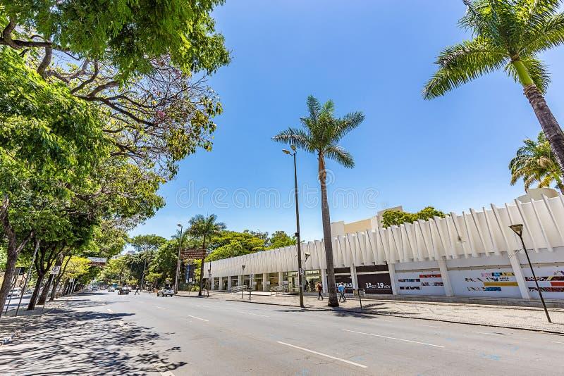 BELO HORIZONTE, BRÉSIL - 13, OCTOBRE 2017 : Palais des arts, Mina photos libres de droits