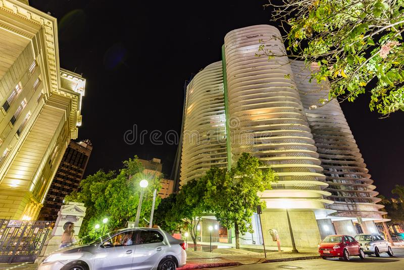 BELO HORIZONTE, BRASILE - 12, OTTOBRE 2017: Un instalation i di arte fotografia stock libera da diritti
