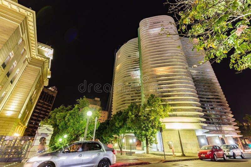 BELO HORIZONTE BRASILIEN - 12, OKTOBER, 2017: En konstinstalation I royaltyfri foto